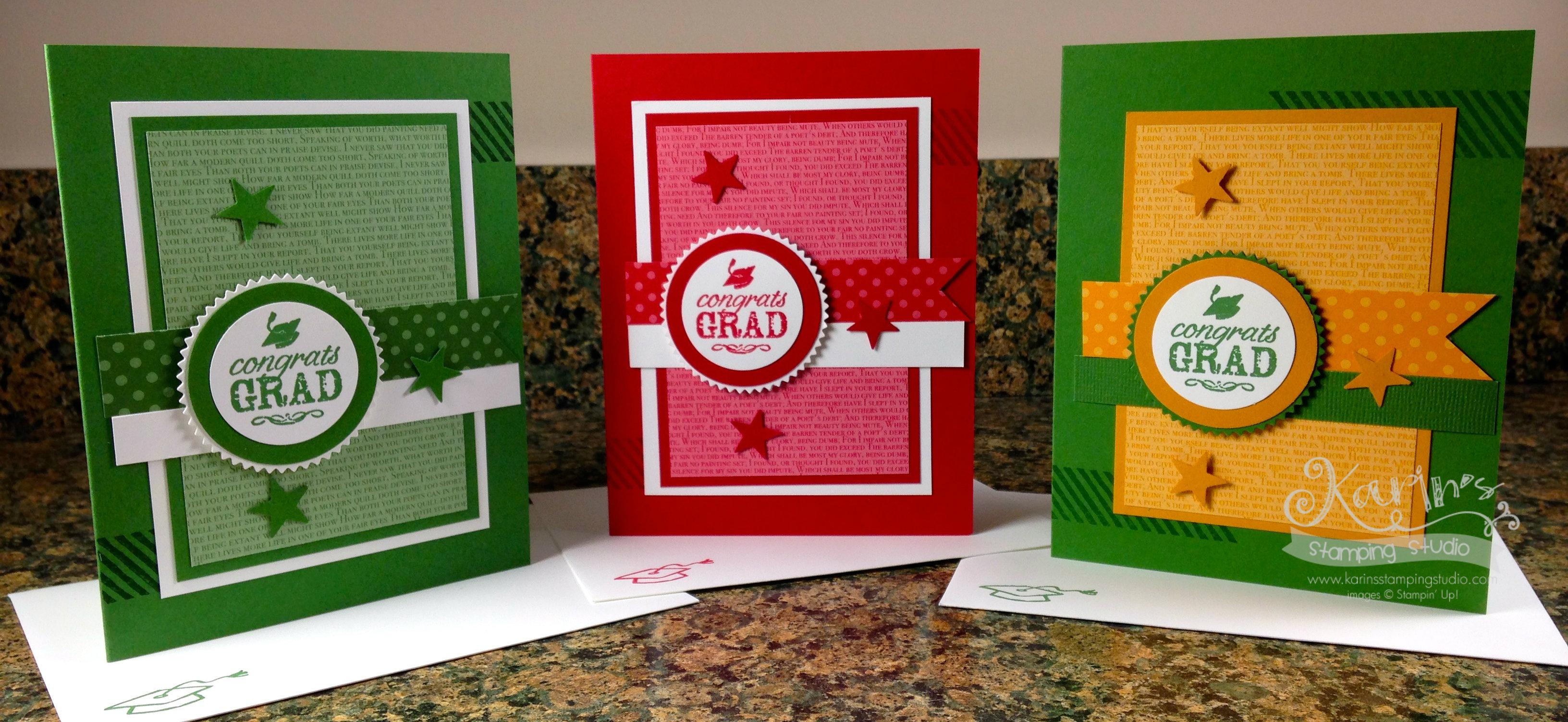 Grad card examples