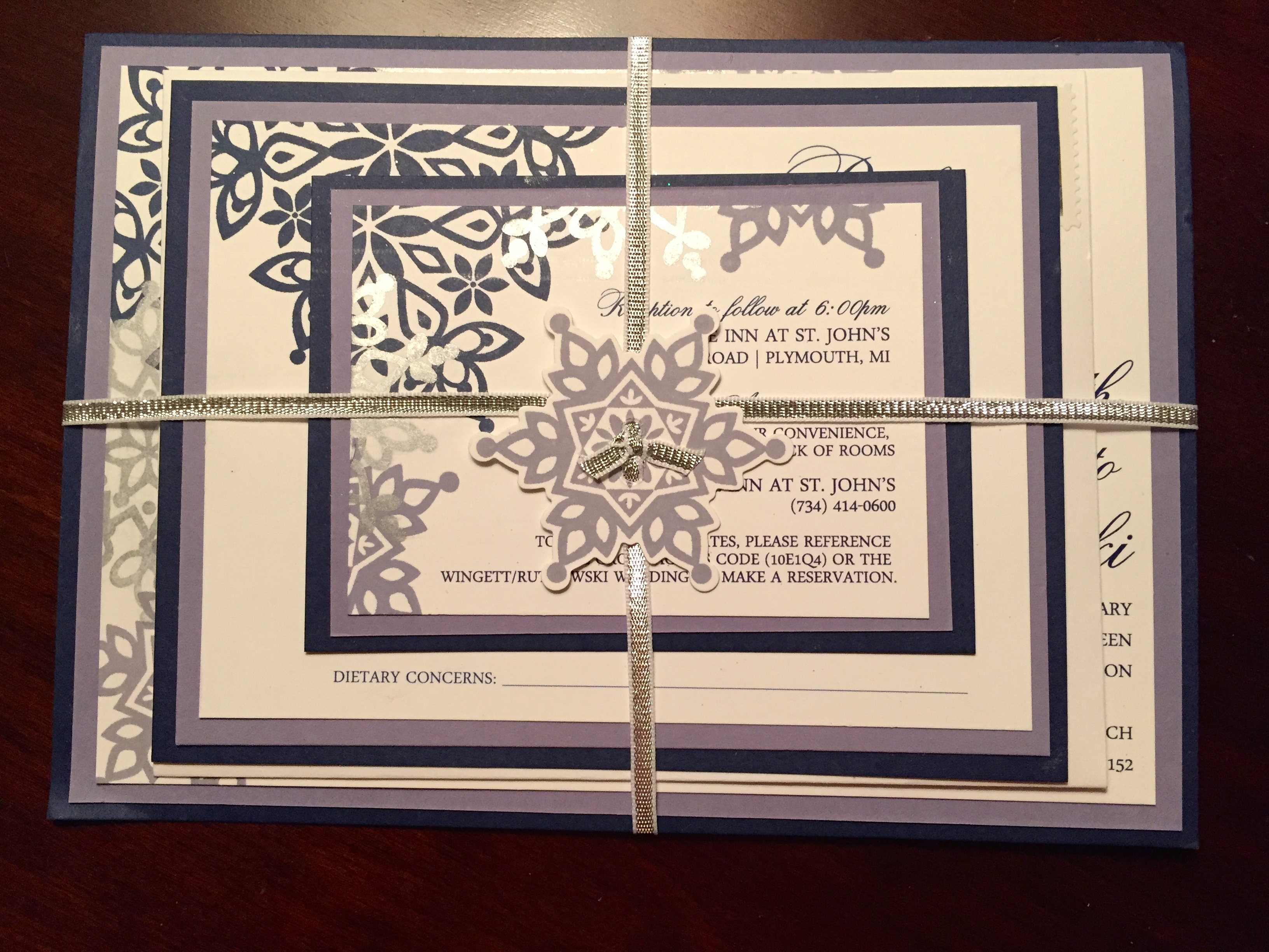 Winter Inspired Wedding Invitations |