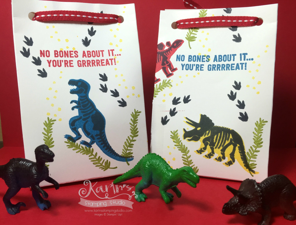 Sie and Avs Dinosaur Bags back
