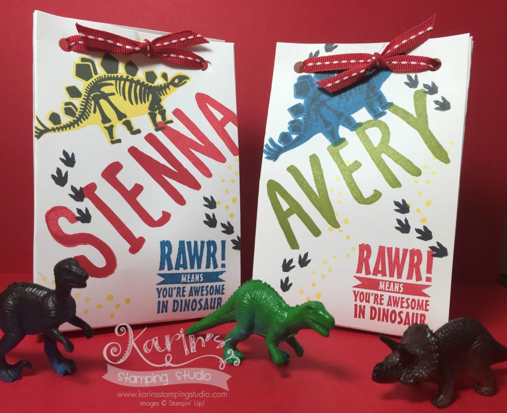 Sie and Avs Dinosuar Bags